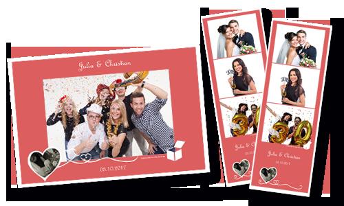 Filmstreifen oder Postkartenformat - Personalisiertes Layout